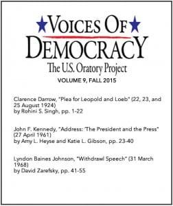 VOD Journal volume 9 cover